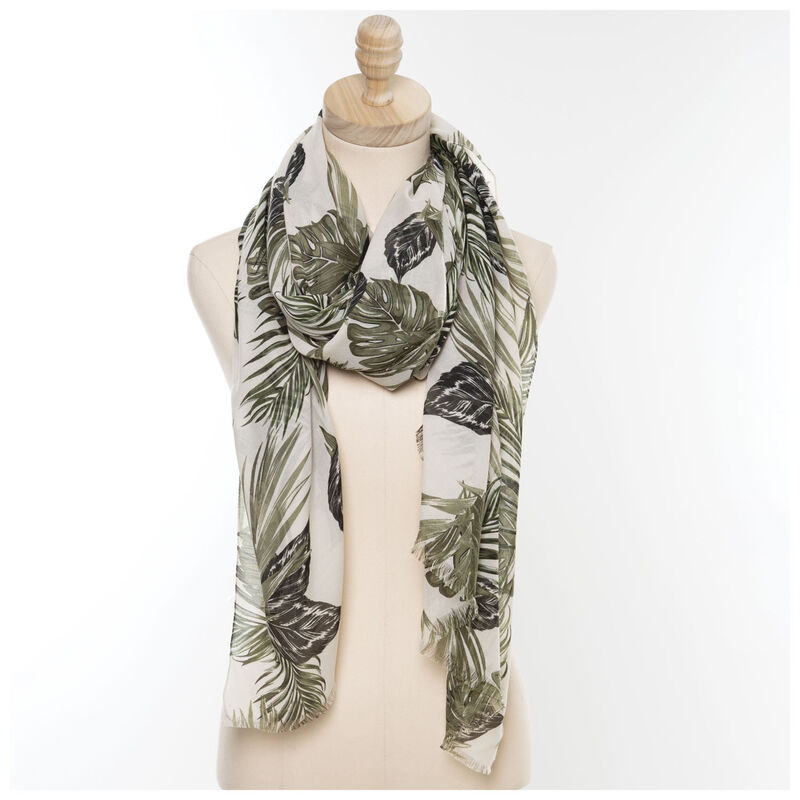Ethany Tropical Scarf -  green-milk