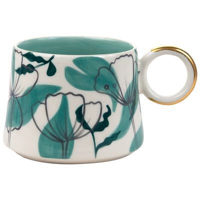 Jade Floral Illustration Mug