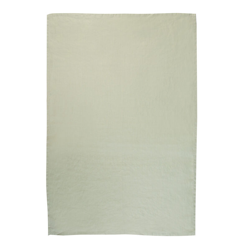 Basil Green Linen Tea Towel -  palegreen