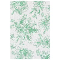 Growing Paper Greens Foliage Card -  green-white