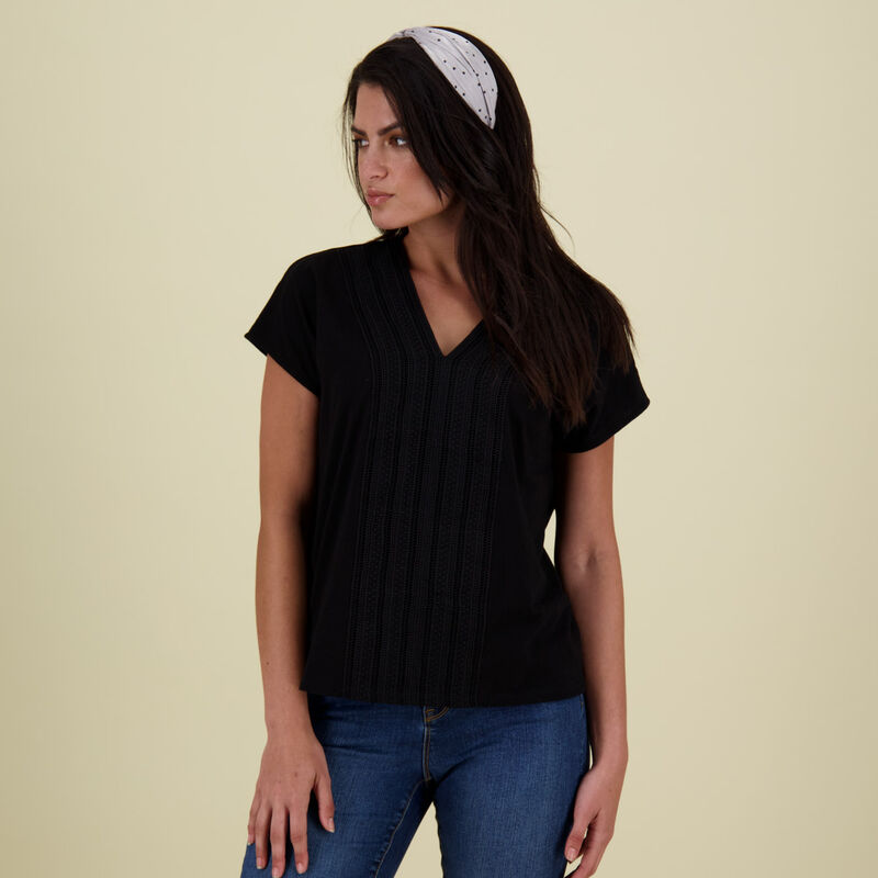 Lucy Cotton T-Shirt -  black