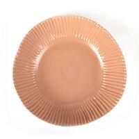 Pret-a-Pot Coral Pink Glazed Salad Bowl   -  grey