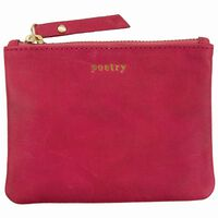 Moira Leather Small Pouch -  magenta