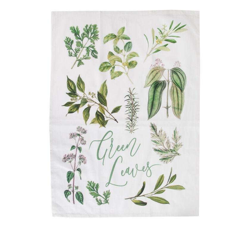 Greenhouse Tea Towel -  green-white