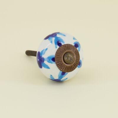 Blues Floral Knob