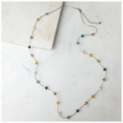 Long Beaded Satellite Necklace