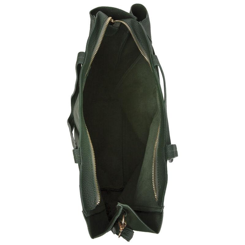 Kaelyn Vegan Leather Tote Bag -  darkgreen