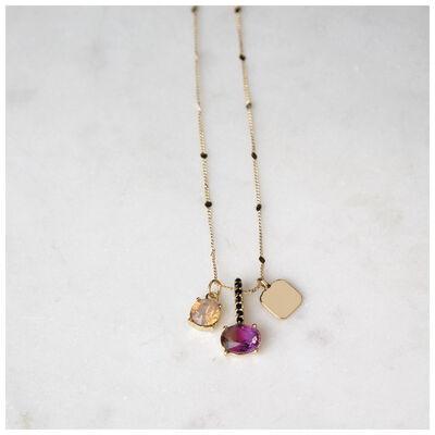 Multi-stone Charm Pendant Necklace
