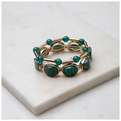 Resin Stretchy Two-Pack Bracelet Set