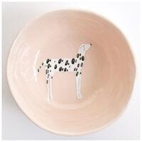 Gemma Orkin Pale Pink Dalmatian Dog Medium Bowl -  palepink