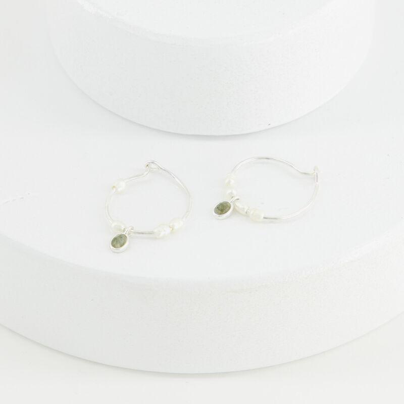 Labradorite Hoop Earrings -  c69