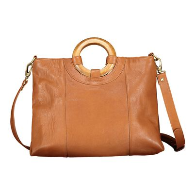 Kinsley Round Handle Leather Bag