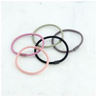 5-Pack Sibyl Rubber Coated Hair Elastics -  dc9900