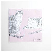 Gemma Orkin Pink Cats Card -  palepink
