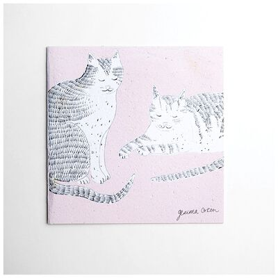 Gemma Orkin Pink Cats Card