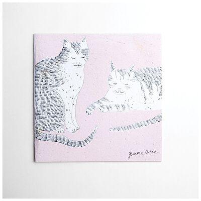 Gemma Orkin Pink Cats Card