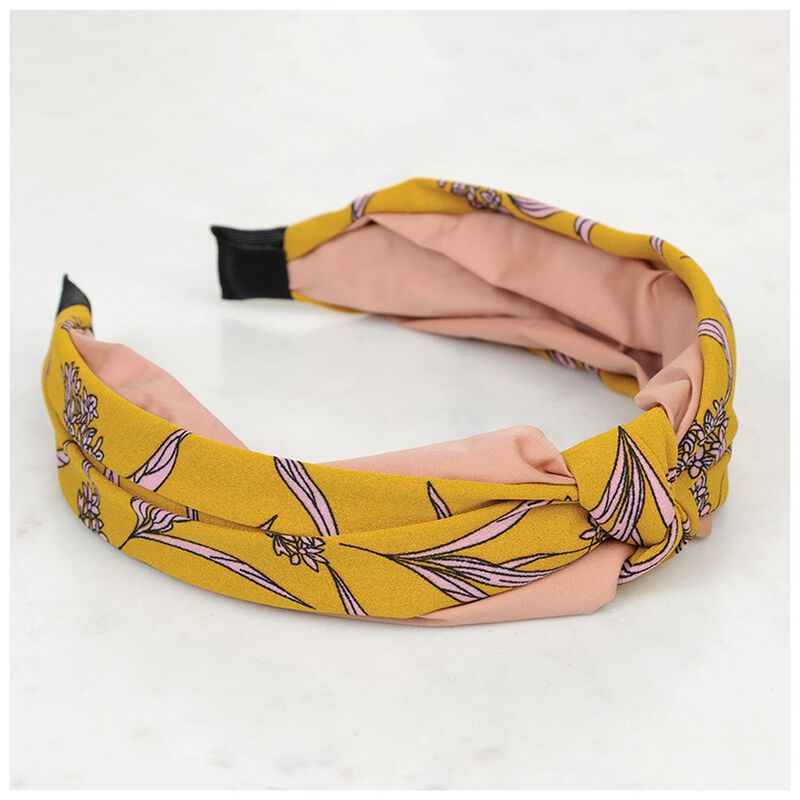 Two-Toned Alice Band -  pink-yellow
