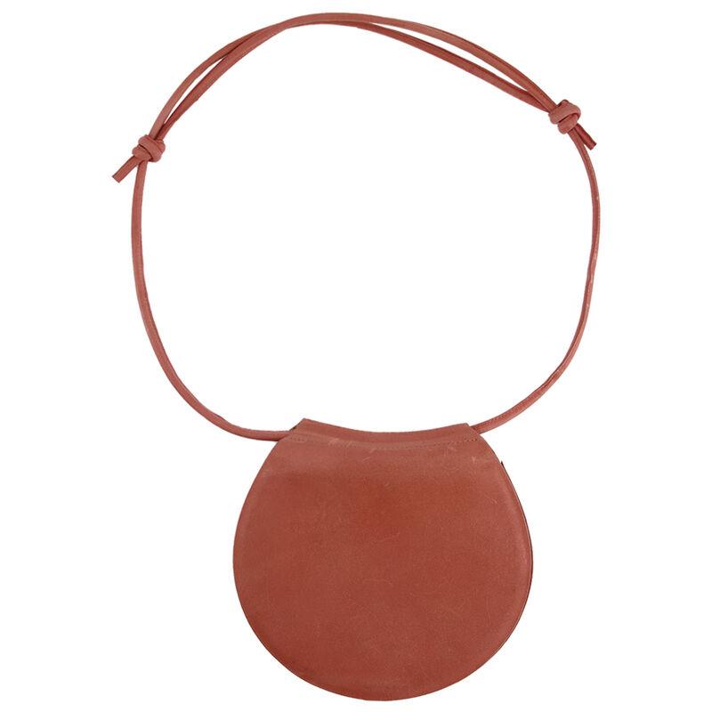 Nora Cross Body Round Leather Bag -  rust