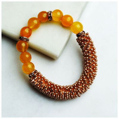Chunky Beaded Stretch Bracelet