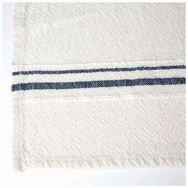 Barrydale French Country Navy Tea Towel -  stone-navy