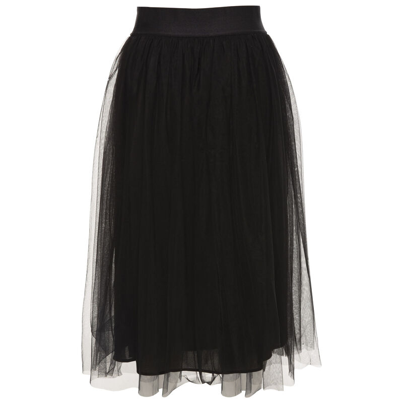 Odelia Mesh Skirt -  black