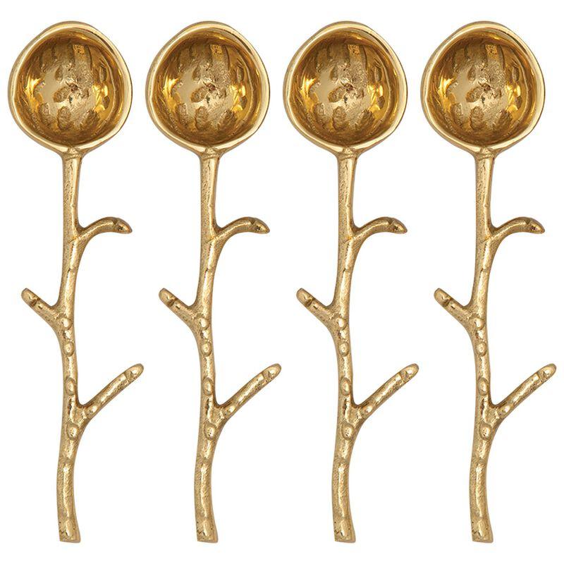 Hammered Organic Spoon Set -  gold
