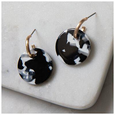 Resin Disc Stud Earrings