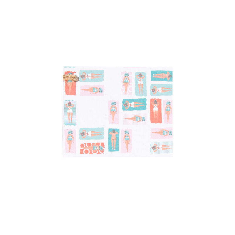 Growing Paper Colourblock Swimmers Tag -  assorted