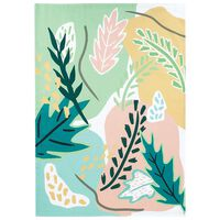 Bold Floral and Ochre Waffle Tea Towel -  assorted