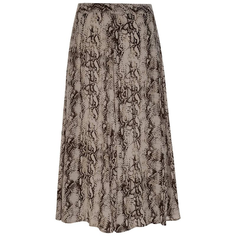 Snake A-Line Skirt -  stone
