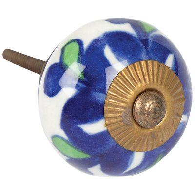 Blue/Green Flower Knob