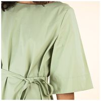 Malie Poplin Dress -  green