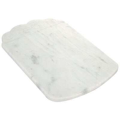White Marble Serving Board