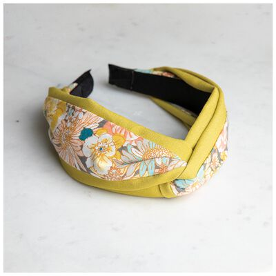 Calista  Two-Tone Twist Floral Alice Band