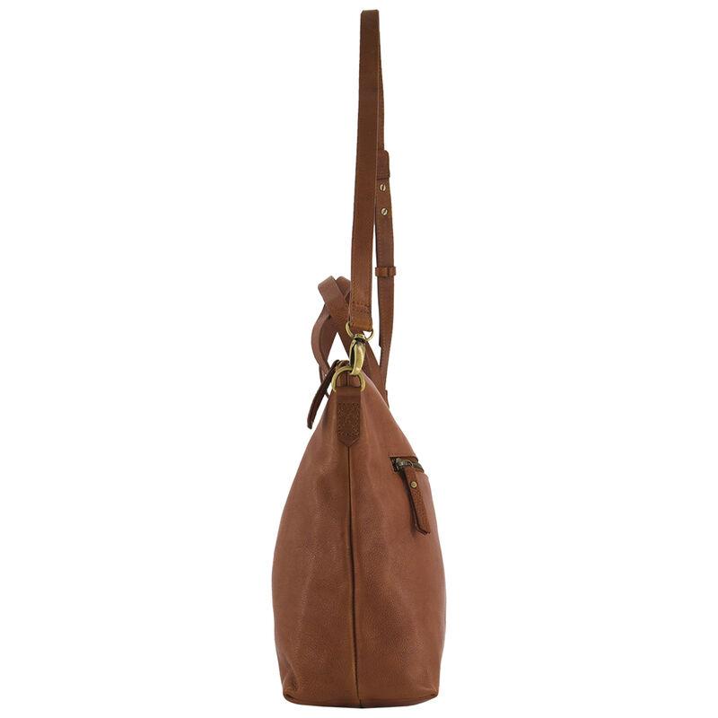 Tatum Leather Shopper Bag -  tan