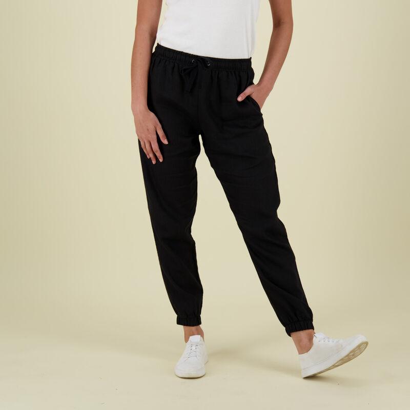 Bev Linen Pants -  black