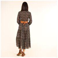 Arabella Printed Maxi Dress -  olive