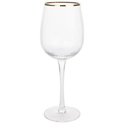Gold Rim Wine Glass