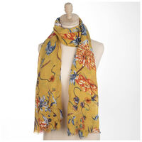 Corinne Floral Scarf -  yellow-assorted