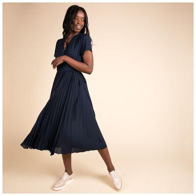 Sofia Pleated Wrap Dress