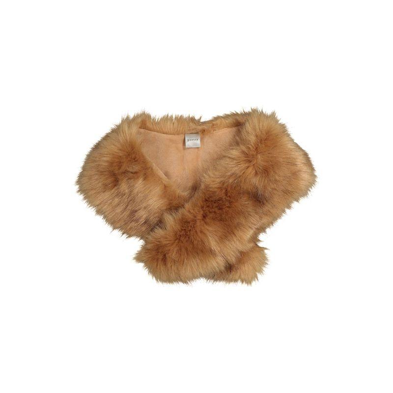 Freya Faux Fur Stole -  brown