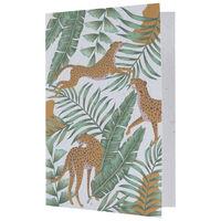 Wild Jungle Growing Paper Card -  green-ochre