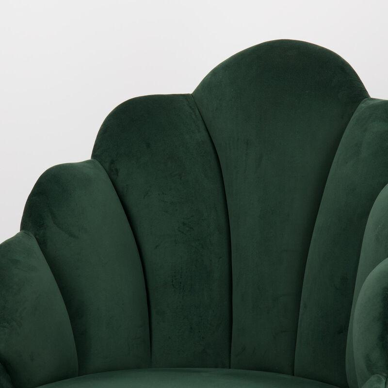 Green Velvet Peacock Chair -  green