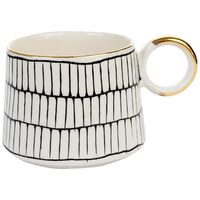 Kapula Black and White Grid Mug -  black-white