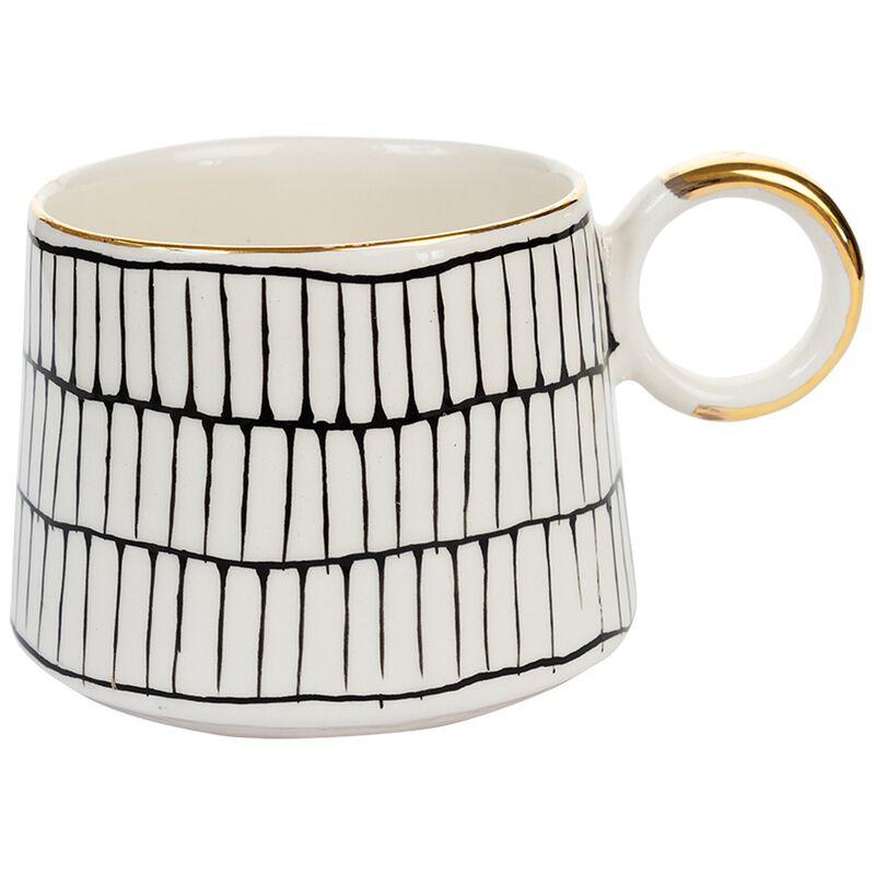 Kapula Black and White Grid Mug -  black-white