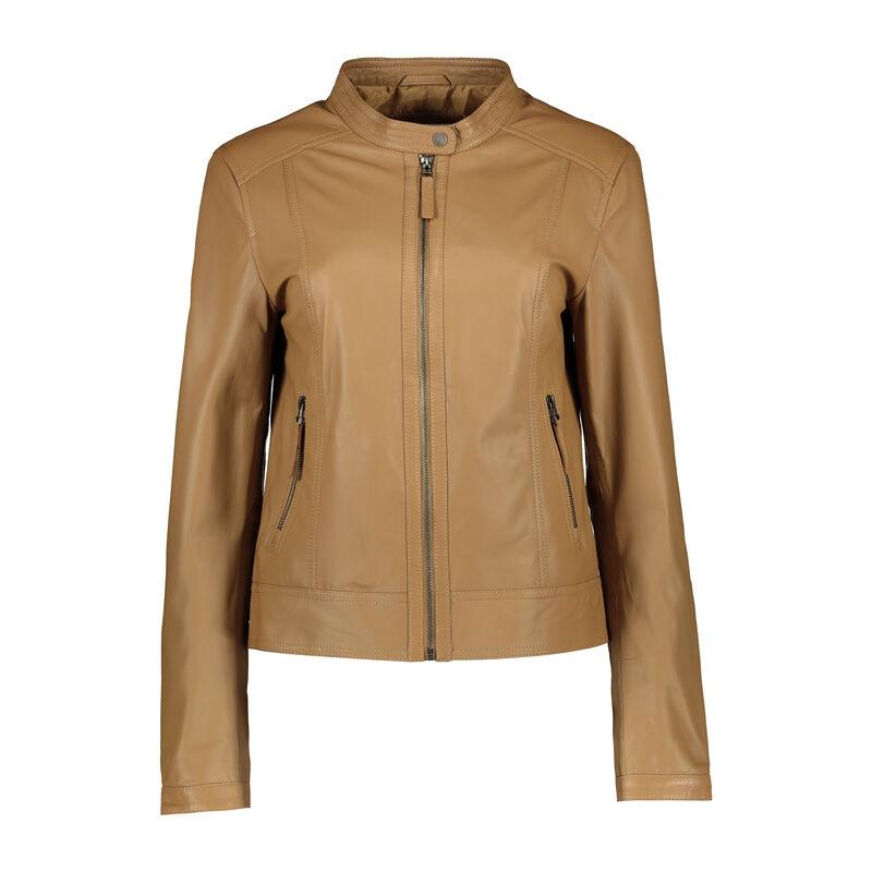 Lucille Leather Jacket -  camel