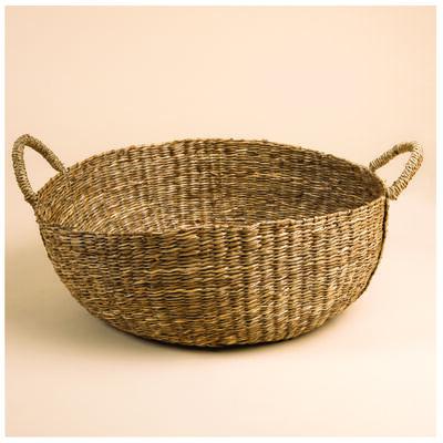 Natural Seagrass Round Basket