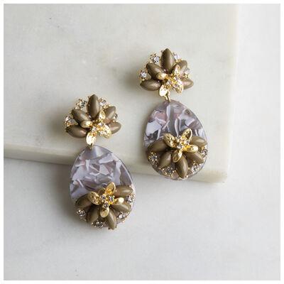 Resin & Paste Statement Earrings