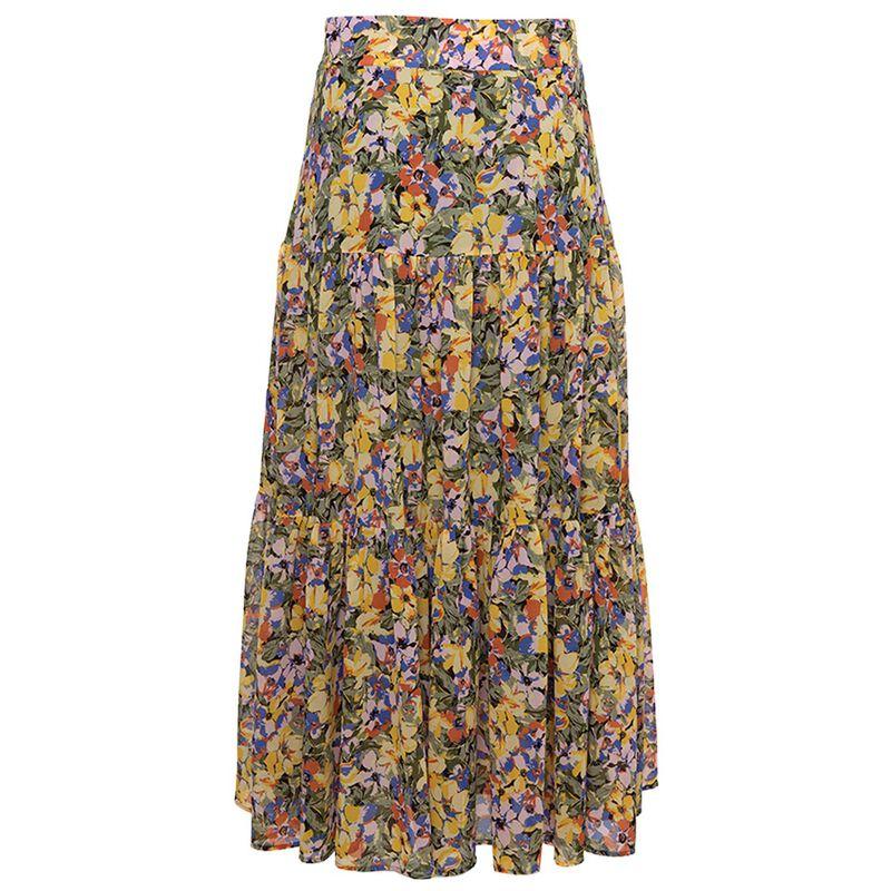 Petrina Floral Skirt -  yellow