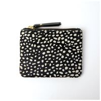 Moira Leather Dotted Pouch  -  black-milk
